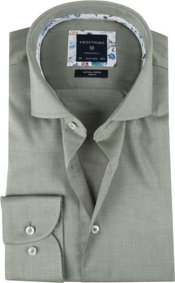 Profuomo Shirt SF Twill Green