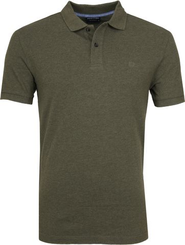 Profuomo Short Sleeve Polo Army