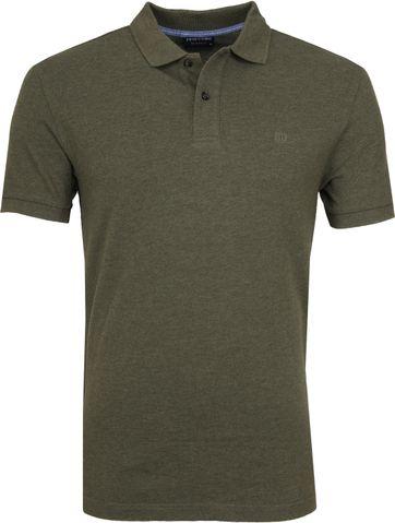 Profuomo Short Sleeve Poloshirt Army
