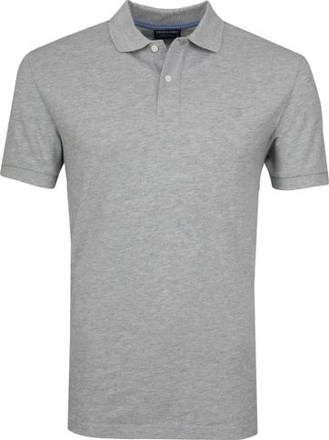 Profuomo Short Sleeve Poloshirt Light Grey