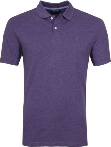 Profuomo Short Sleeve Poloshirt Purple