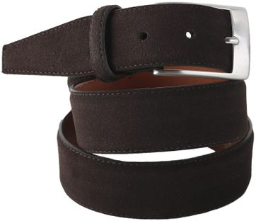 Profuomo Suede Belt Dark Brown