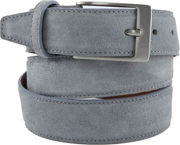 Profuomo Suede Belt Grey