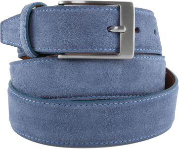 Profuomo Suede Belt Light Blue