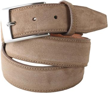 Profuomo Suede Belt Taupe 108