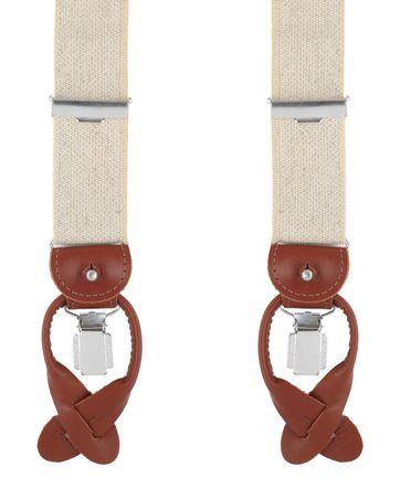 Profuomo Suspenders Beige