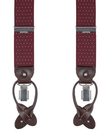 Profuomo Suspenders Bordeaux-White