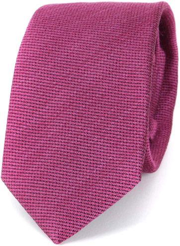 Profuomo Tie Tussah Silk Pink