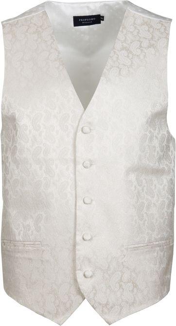 Profuomo Waistcoat Silk Off-White