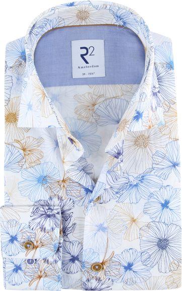 R2 Overhemd Bloem Blauw