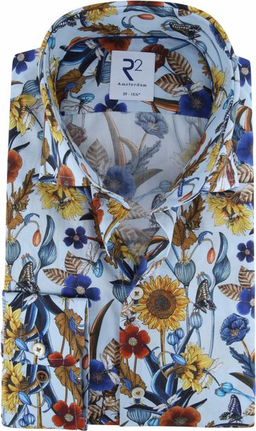 R2 Overhemd Kleurrijke Bloemen