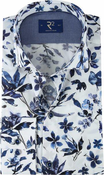R2 Overhemd WS Bloemen Blauw
