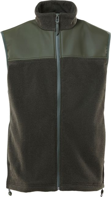 Rains Bodywarmer Fleece Donkergroen