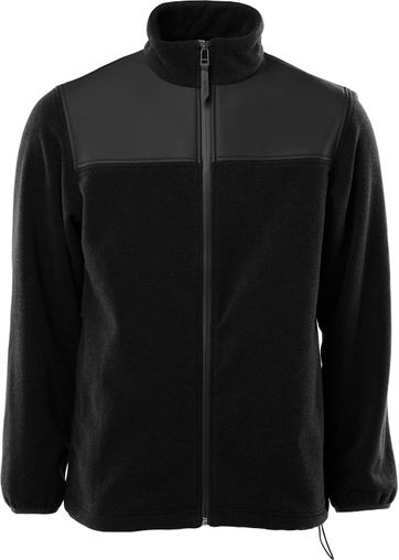 Rains Fleece Zip Cardigan Black