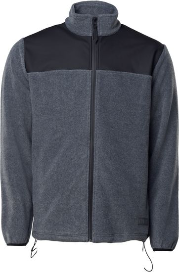 Rains Fleece Zip Vest Grijs