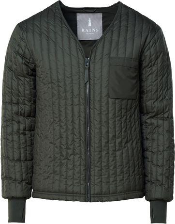 Rains Liner Jacket Dunkelgrün