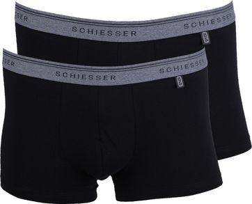 Schiesser Boxer Shorts Black Grey 2-Pack