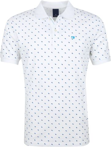 Scotch and Soda Polo Blokken Wit