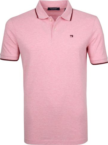 Scotch and Soda Polo Melange Roze