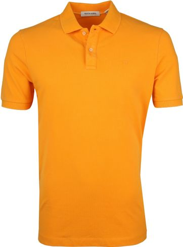 Scotch and Soda Polo Naranja Oranje