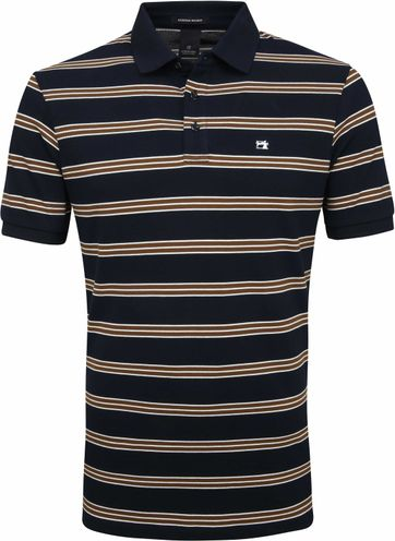 Scotch and Soda Polo Strepen Navy