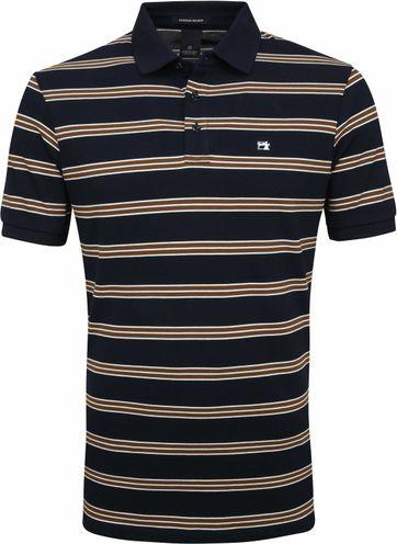 Scotch and Soda Polo Stripes Navy