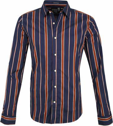 Scotch and Soda Shirt Dark Blue Stripes