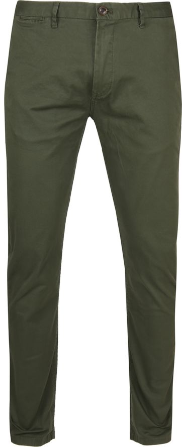 Scotch and Soda Stuart Chino Donkergroen