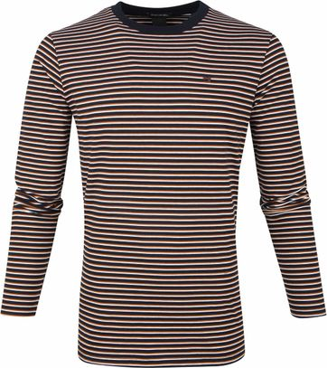 Scotch and Soda T-shirt Longsleeve Stripes