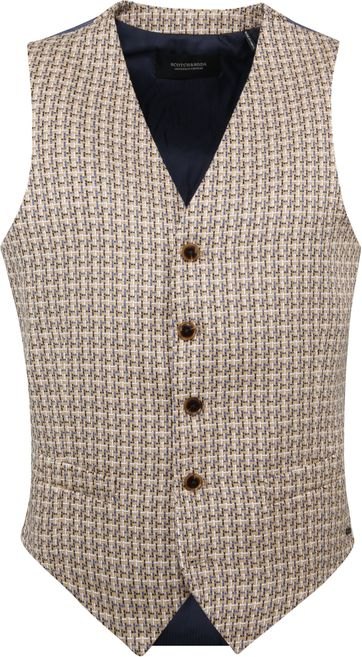 Scotch and Soda Tollegno Weste Beige