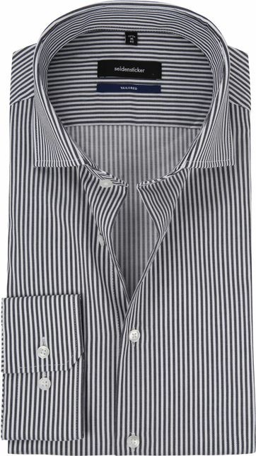 Seidensticker Grey Shirt Stripes