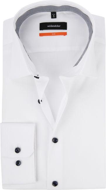 Seidensticker Hemd Slim Weiß