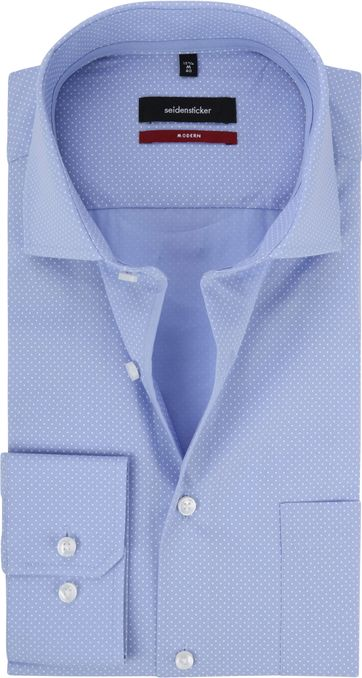 Seidensticker Modern-Fit Shirt Blue