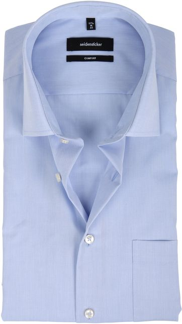 Seidensticker Non Iron Light Blue Comfort-Fit SS