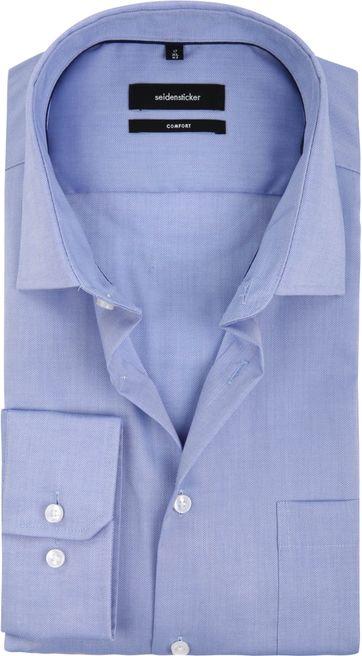 Seidensticker Overhemd Comfort Fit Blauw