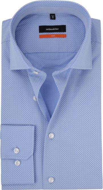 Seidensticker Overhemd Dessin Blauw