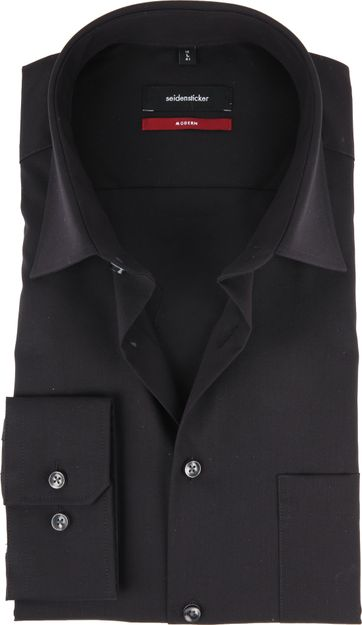 Seidensticker Overhemd MF Zwart