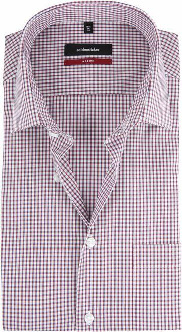 Seidensticker Overhemd Ruit Rood