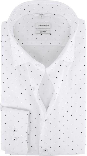 Seidensticker Overhemd Shaped-Fit Wit Stippen