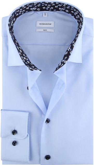 Seidensticker Overhemd Slim Blauw