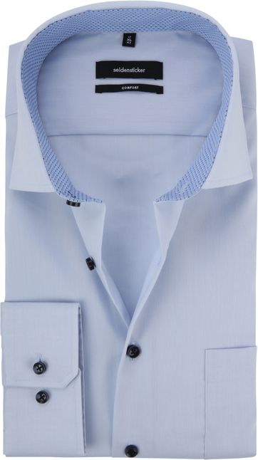 Seidensticker Shirt Light Blue CF