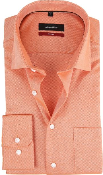 Seidensticker Shirt Orange