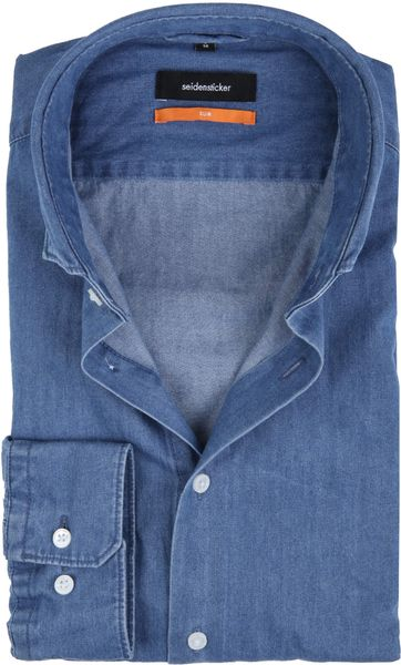 Seidensticker Shirt SF Denim Blue