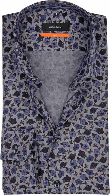 Seidensticker Shirt SF Flower Blue