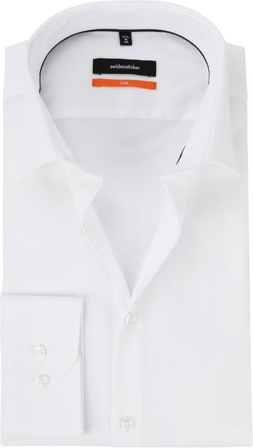 Seidensticker Shirt White Slim-Fit