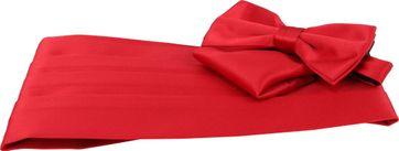 Set Kummerbund, Fliege und Einstecktuch rot