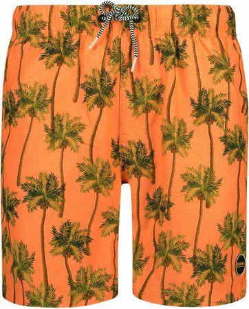 Shiwi Badeshorts Palmen Orange
