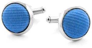 Silk Cufflinks Blue F05