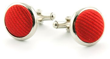 Silk Cufflinks Red F34