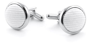 Silk Cufflinks White F27
